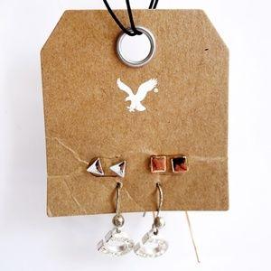 NEW LOT 3 AMERICAN EAGLE Lucky Horseshoe Dangle, Triangle, Square (Rose Gold)